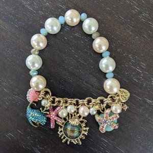 Betsey Johnson And The Sea Faux Pearl Bracelet